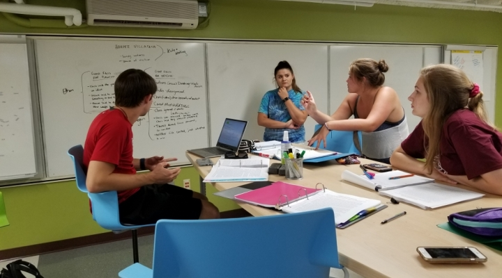 Students and Consultants working in Noel Studio Invention Space