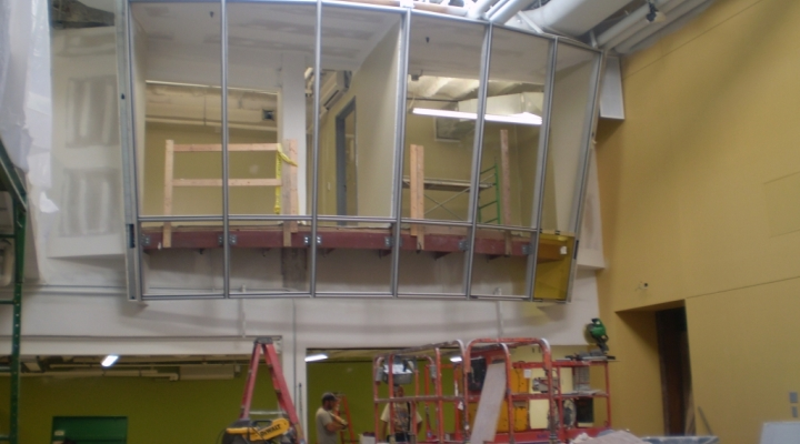 Construction of the Noel Studio Discovery Classroom
