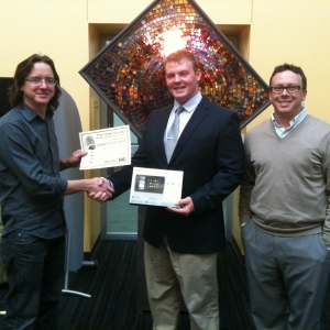 Pictured from left: Dr. Shawn Apostel, William Strait, and Dr. Russell Carpenter